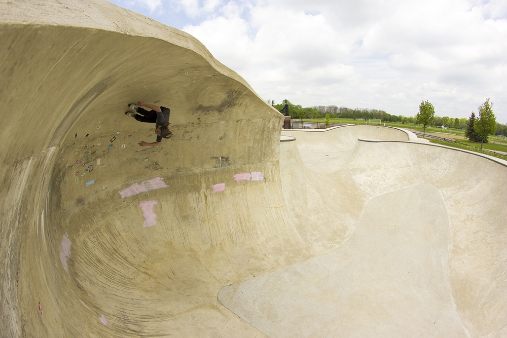 Oververt at Riley skatepark Farmington MI - Ryan Grau