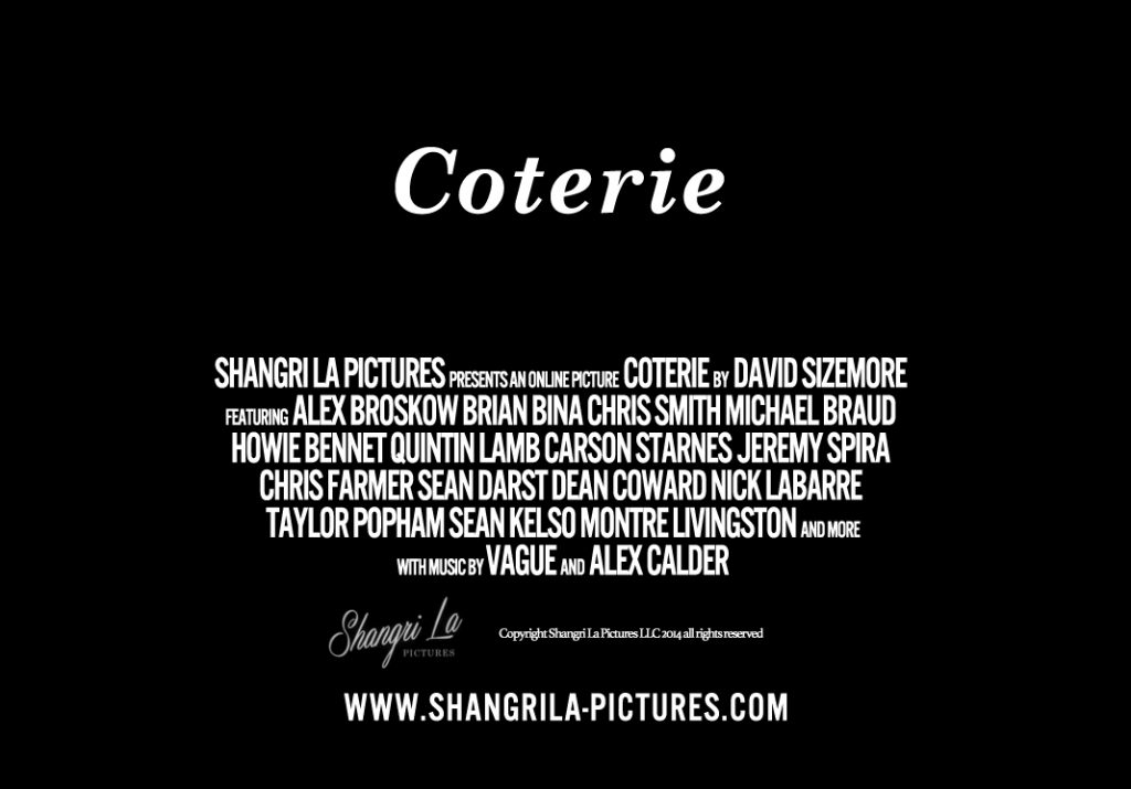 COTERIE Horizontal Poster