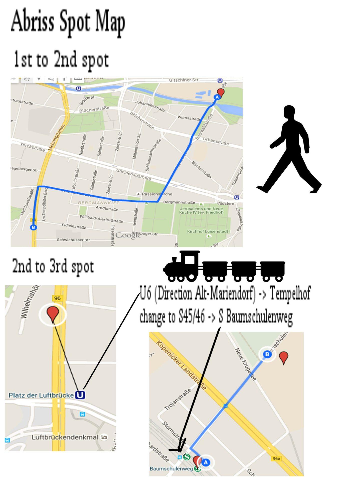 Abriss I - Spotmap