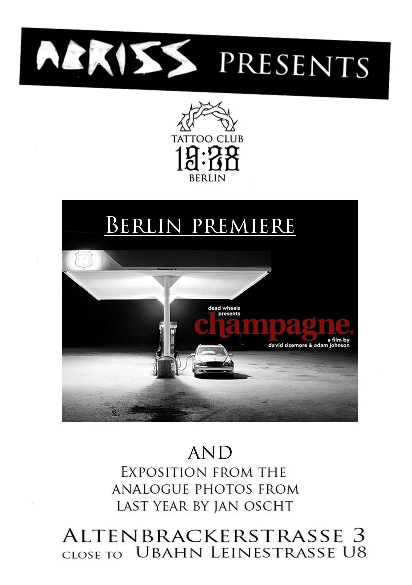 Abriss III - Promo Champagne Screening