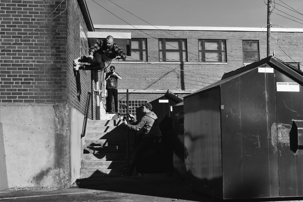 Stefan - inspin dumpster roll gap to wallride - Photo Brandon Ballog
